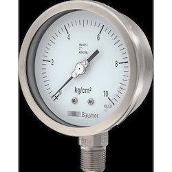 All SS Pressure Gauge Bourdon Type