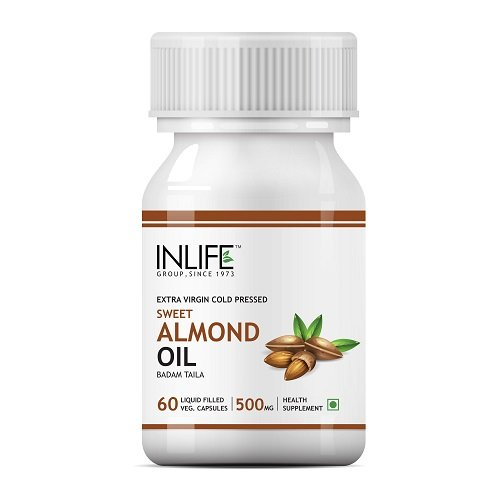 INLIFE Sweet Almond Oil, 500mg