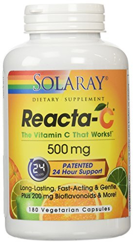 Solaray Reacta C with Bioflav Vitamin Capsules 500 mg