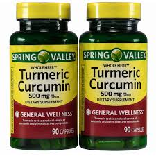 Spring Valley Whole Herb Turmeric Curcumin Dietary Supplement Capsules